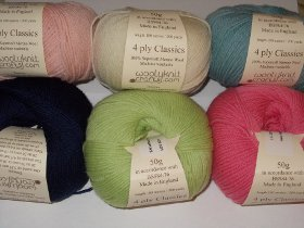Woolyknit 4 ply Classics Supersoft Merino Wool